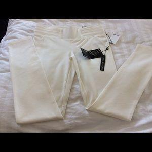 Boom Boom white med dress leggings. NWT, pleated.